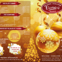 Flyer recto Boucherie Elcoso noël 2017