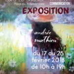 Affiche exposition de peinture au Carcom