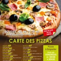 affiche gamme pizza