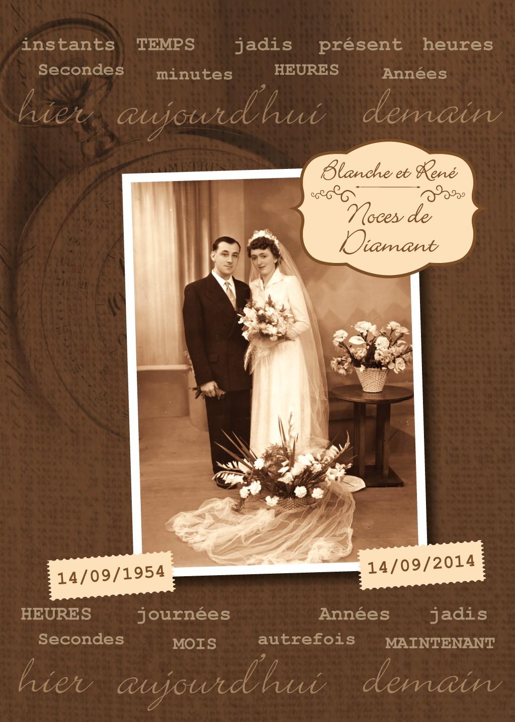 anniversaire de mariage noces de diamant