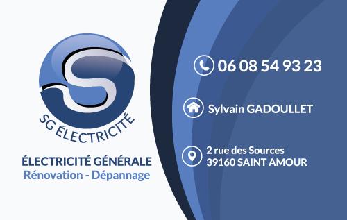 Cration De Logo Et Carte Visite Pour Artisan Saint Amour SG Electricit